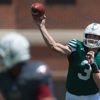 Troy QBs to play waiting game; Pogue needs voice work