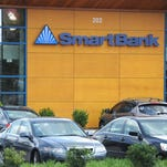 A SmartBank branch at Advantage Place is seen in Knoxville on Wednesday, Sept. 2, 2015.