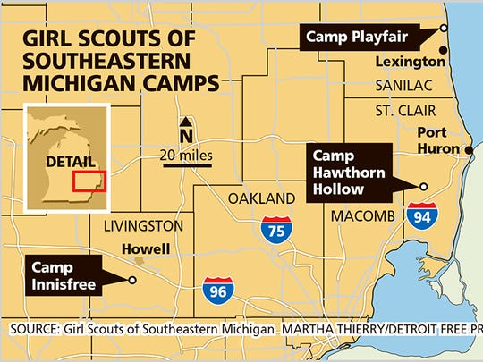 Girl Scouts of Southeastern Michigan camps