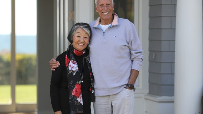 Atsuko Fish and her husband, Larry, have given immigrant families financial support during the COVID-19 pandemic through the Fish Family Foundation, which the West Falmouth couple started in 1999.