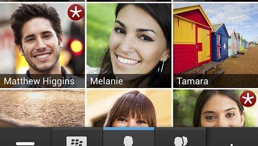 A screenshot from BBM