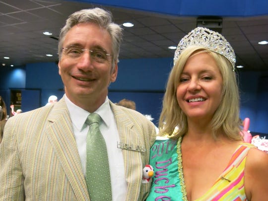 Caddo Commissioner Matthew Linn and his wife, Krewe