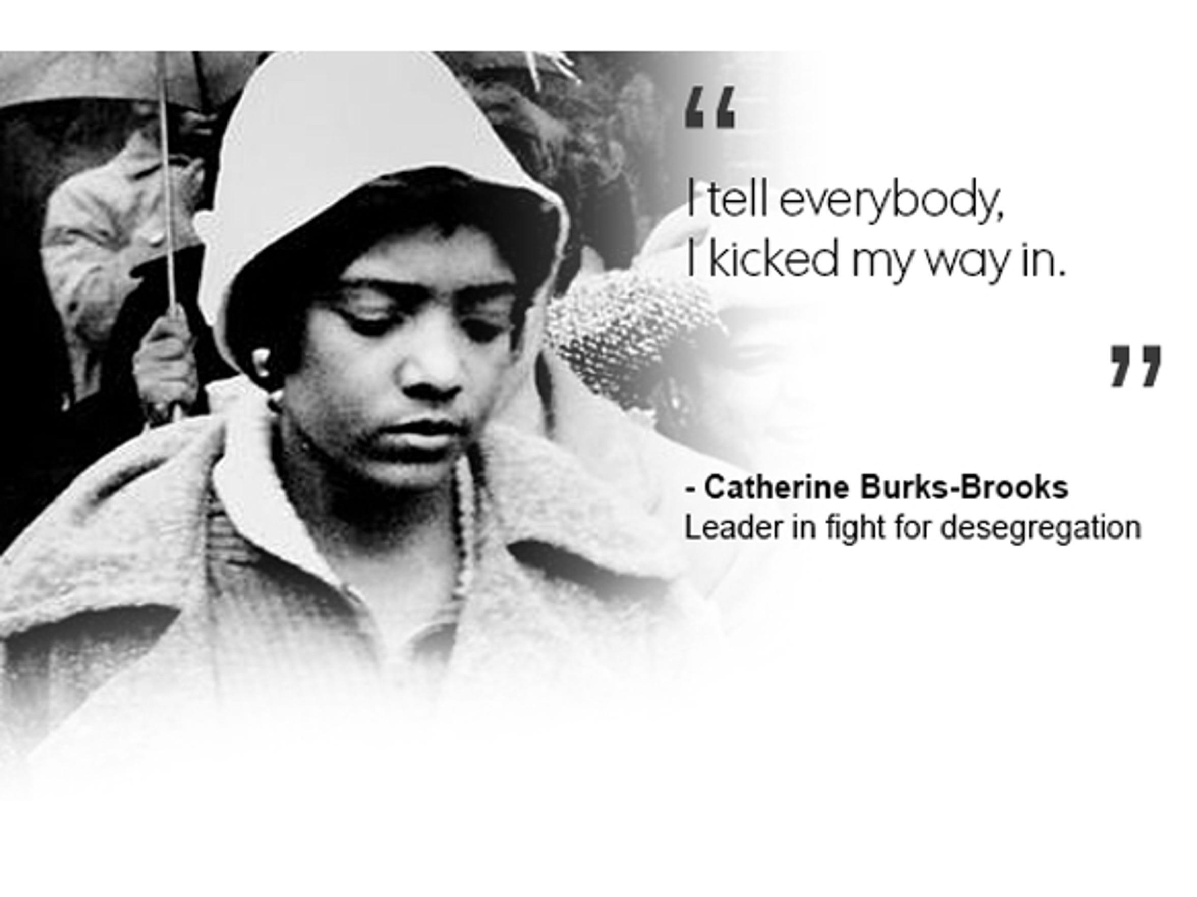 Catherine Burks-Brooks, leader in fight for desegregation