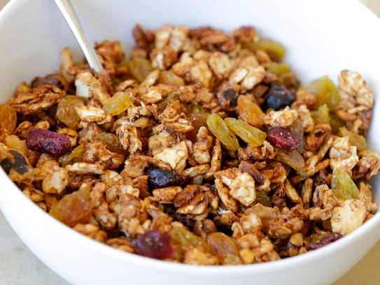 Matzo Passover granola made with Matzo Farfel  as a