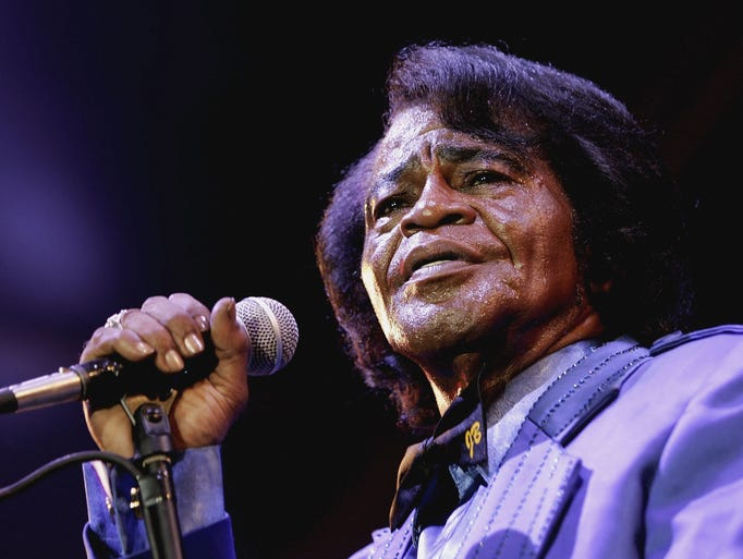 Singer James Brown performs as part of HM Tower of London Festival of Music's inaugural jazz and opera festival on July 4, 2006, in London.