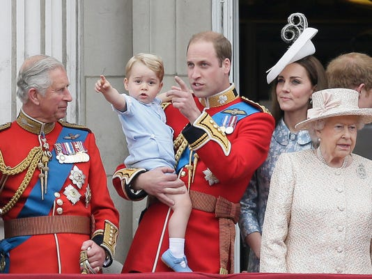Royal Family Trooping the Color