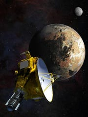 Artist's concept of the New Horizons spacecraft as