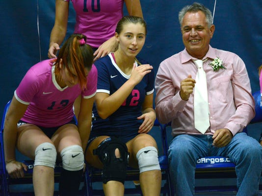 UWF Volleyball Pack It Pink Game 2