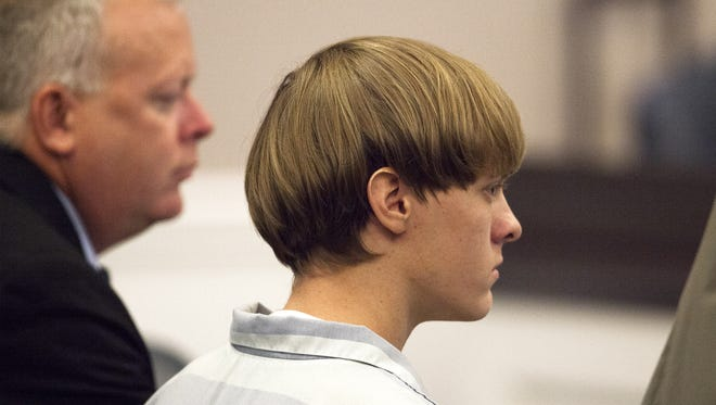 Dylann Roof at a hearing in Charleston, S.C.