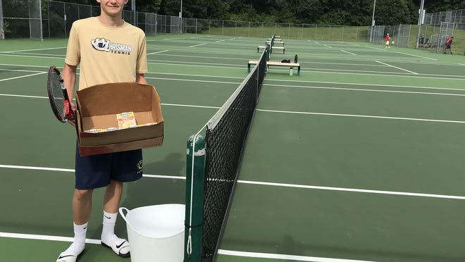 William Chrisman High School senior-to-be Jordan Twenter hopes to fill many boxes and containers with food that he will donate to Harvesters - The Community Food Network. Twenter has organized a July 19 tennis tournament at Santa Fe Trail Park where the entry fee is canned food items. He is also asking for those who attend to bring non-perishable food items. The tournament is helping Twenter become an Eagle Scout.