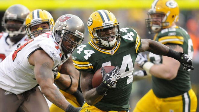 James Starks carries the ball against the Buccaneers during their 2011 game.