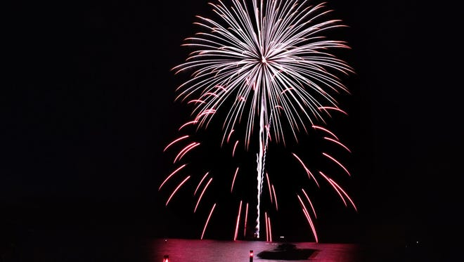 Fireworks light up the sky last year during Fish Creek's Summer Fest.