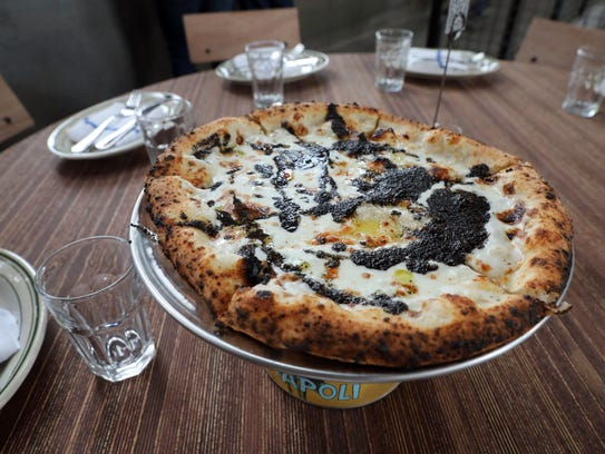 The Luigi Bianco pizza at Fortina restaurant at the