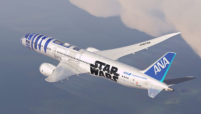 A rendering of All Nippon Airways' planned 'Star Wars'-themed Boeing 787 Dreamliner.