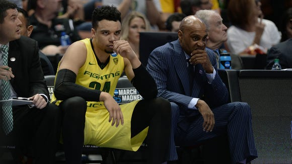 March 26, 2016; Anaheim, CA, USA; Oregon Ducks forward