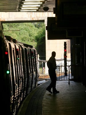 A person exits a PATH train at the Journal Square station in Jersey City, N.J. Jersey City  is the most diverse U.S. city, according to a WalletHub analysis.