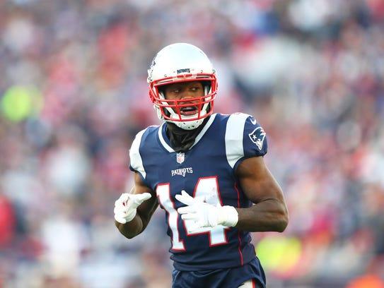 New England Patriots wide receiver Brandin Cooks (14)