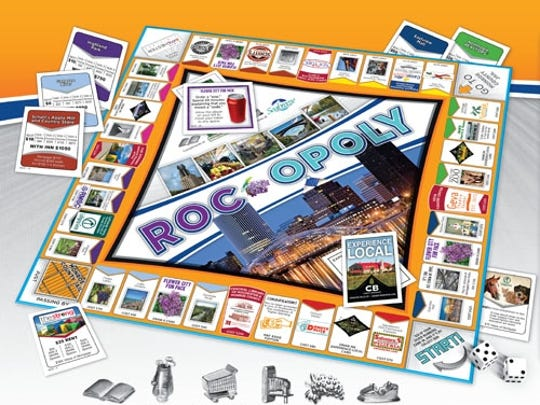 Roc-opoly board game was developed by the owners of My Favorite Toy Box, a Fairport toy store.