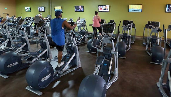Members workout int he cardio area at Fitness Evolution
