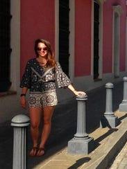 Jenna Intersimone in Puerto Rico.
