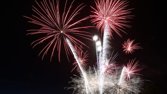 Catch fireworks after the Volcanoes baseball game on Friday.