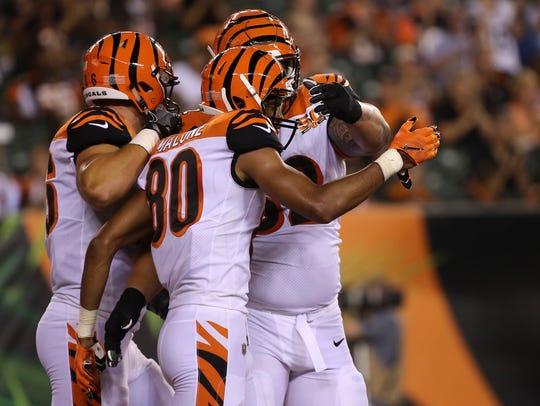 Cincinnati Bengals wide receiver Josh Malone (80),