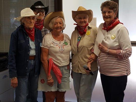 Best dressed The Evansville Duplicate Bridge club celebrated