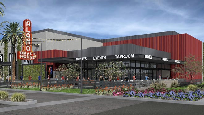 This rendering shows the design of an Alamo Drafthouse Cinema that would be built on Baseline Road east of Rural Road in Tempe.