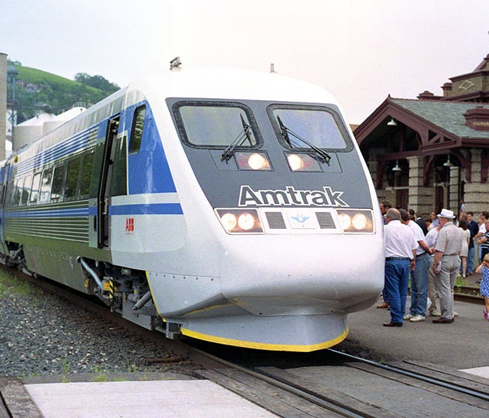 As Amtrak explored the development of high-speed rail in the early 1990s, it leased two European high-speed trainsets for testing in the Northeast: the German Intercity Express (ICE) and the Swedish X2000. The equipment was also displayed in cities a