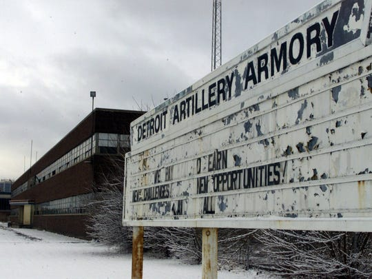 The old Detroit Artillery Armory in Oak Park was razed a decade ago. This photo is from 1999.