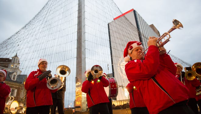 The Prime Time Brass Band is scheduled to be back for the 2017 lighting of the Liberty Pole on Saturday.
