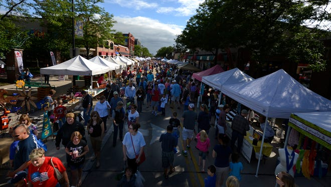 It's not uncommon for the Farmers Market on Broadway to draw 10,000 visitors on an average Wednesday night of its summer run in downtown Green Bay's Broadway District. It has become both a popular shopping and social destination for local crowds.