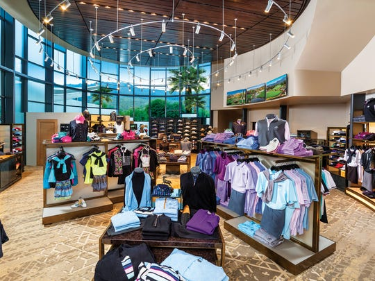The new clubhouse at Bighorn Golf Club includes a large pro shop.