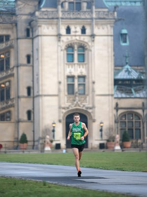 Brian Schouler of Asheville was the overall winner of the third annual Asheville Marathon at Biltmore on Sunday.