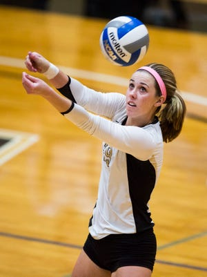 Anderson University junior Marissa Mitter ranks fifth in the South Atlantic Conference in kills per set.