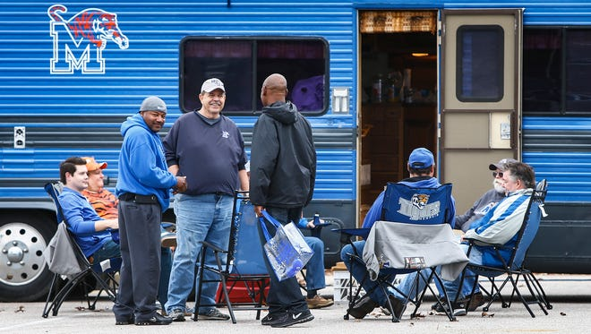 Tailgate scenes before Memphis takes on SMU in Memphis, Tenn., Saturday, November 18, 2017.