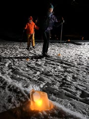 Lapham Peak hosts a popular candlelight ski and hike