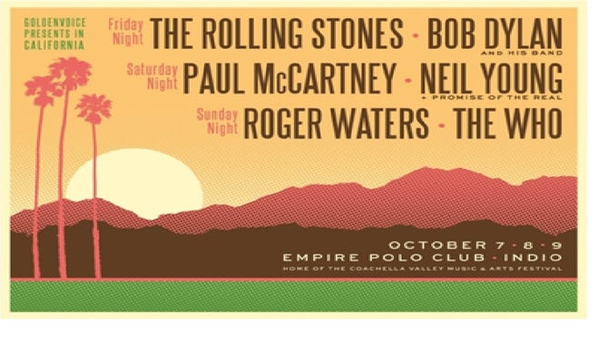 Desert Trip three-day concert planned for Coachella Valley in October