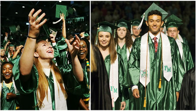 470 students graduated Saturday at Fort Myers High School's commencement at Germain Arena in Estero.