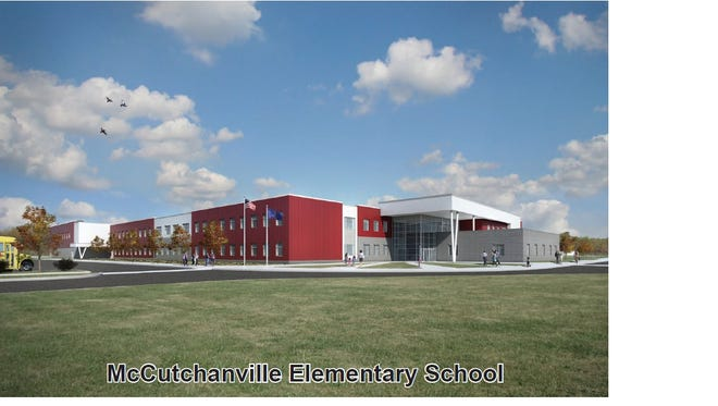 A rendering of EVSC's new McCutchanville Elementary School.