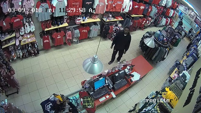 A man told a clerk he got a nice tax refund then conceals merchandise at 11:14 a.m. March 9 at Name of the Game Store, 95 N. Moorland Road.