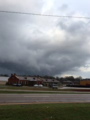 Photo of storm clouds over Magee, Miss. submitted by a reader.