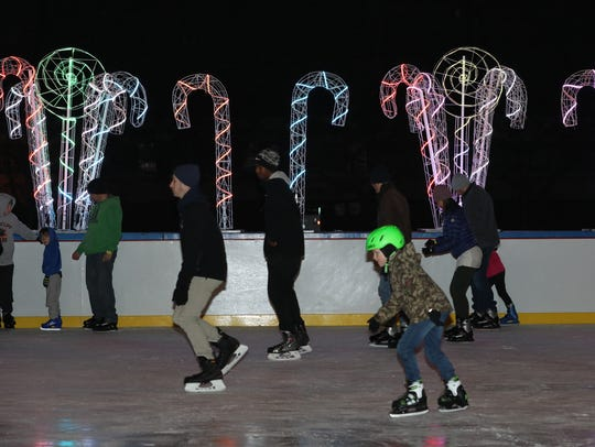 Ice skaters enjoy the ice rink at the 4th annual Westchester's