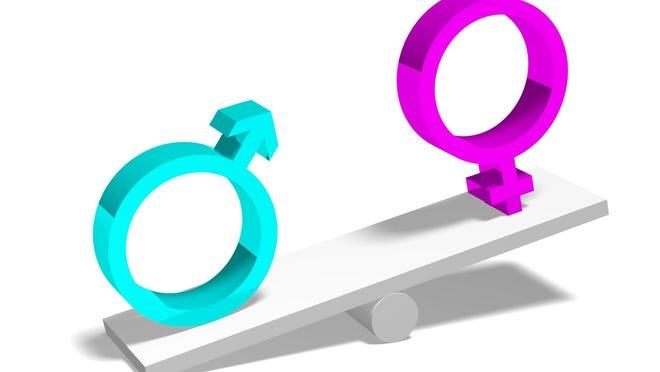 3D gender concept - equality