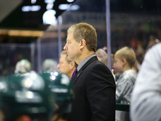 Chris Luongo surveys the action during a recent MSU