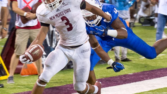 NMSU's Larry Rose III led the Sun Belt in rushing as