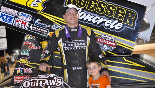 Bill Balog of Hartland, Wis., won the World of Outlaws feature June 25, 2016, at Beaver Dam Raceway.