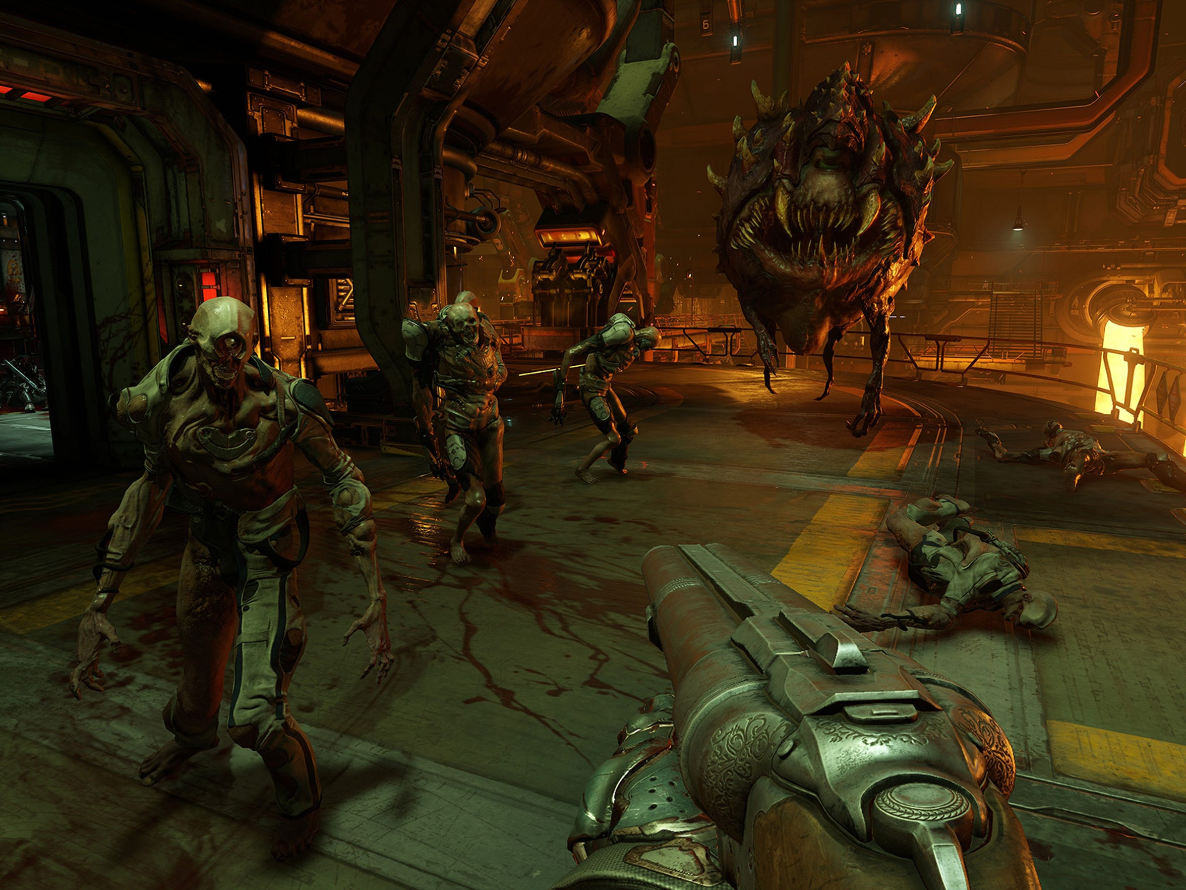 Fight the hordes of hell once more in Doom for PC,