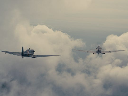 The Spitfires fly into Battle in 'Dunkirk.'