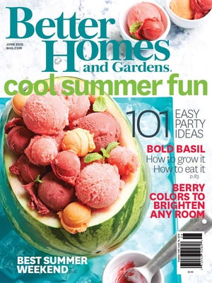 The cover of the July 2015 issue of Better Homes and Gardens magazine.